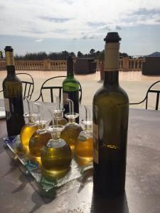 Huile d'olive, et vignoble de provence.