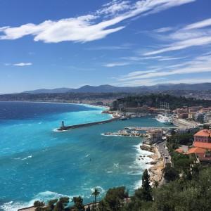Port de Nice, colline du château, promenade des Anglais