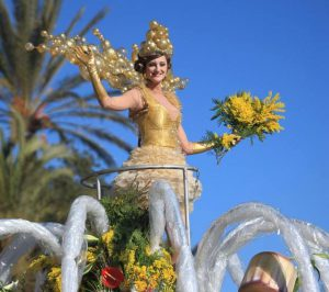 Nice carnaval, Bataille de fleurs