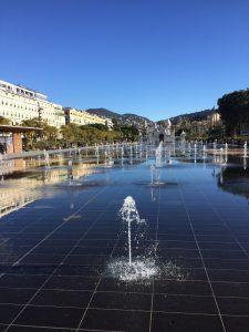 Visite guidée de Nice, Place massena Nice, Fontaine visite guidée