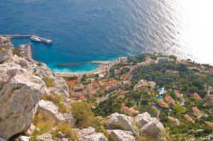 Vue La turbie, la tete de chien, Cote d'Azur, Visite guidée